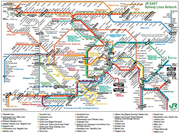 JR train map